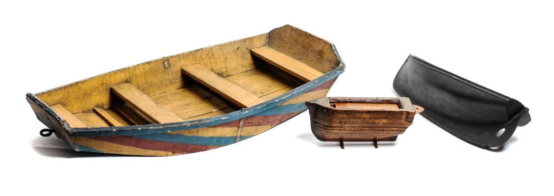 Three Decorative Model Boats Length of largest 25 1/2 x