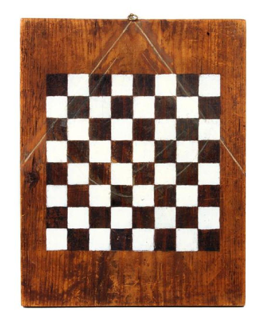 Decorative Painted Wood Chess Board Height 21 x width