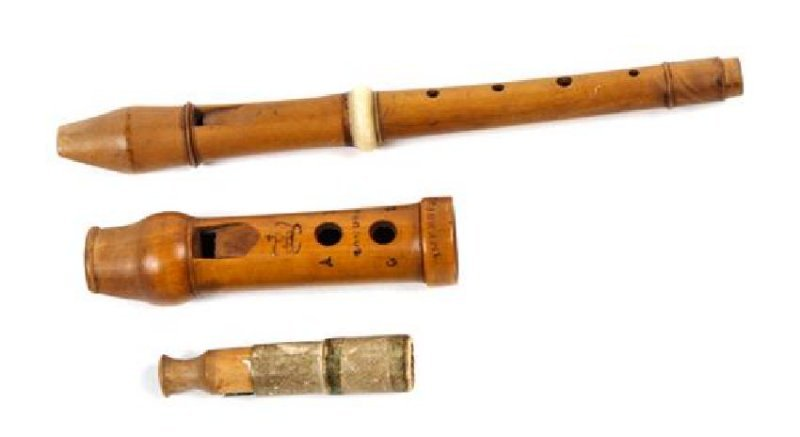 Three Wind Instruments Length of longest 6 1/2 inches