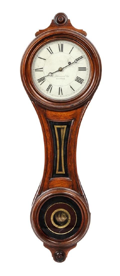 American Oak Wall Clock Height 34 x width 11 x depth 5