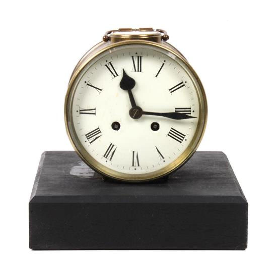 American Brass Clock Diameter 5 1/2 inches