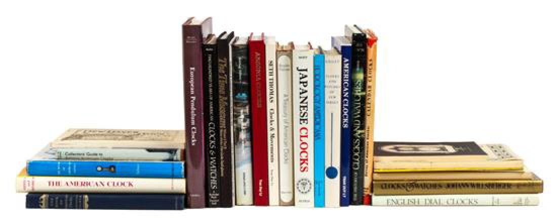 Group of Reference Books Pertaining to Clocks