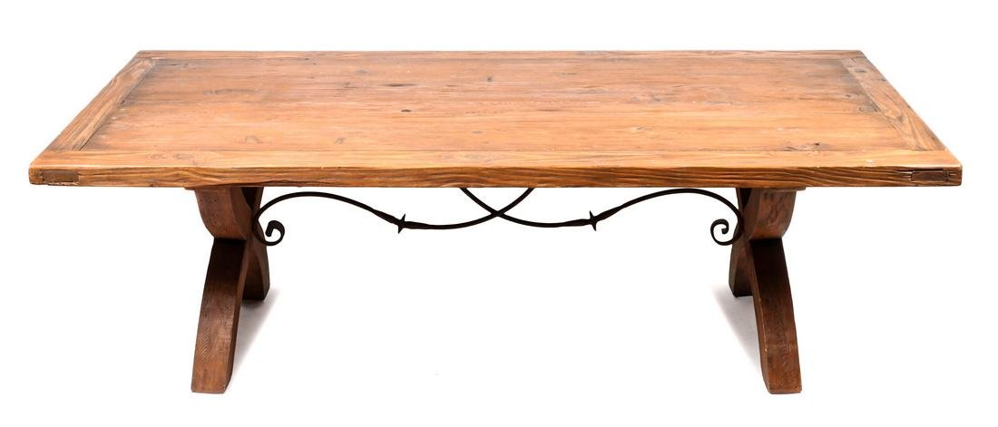 American Pine Dining Table Height 29 1/2 x length 96 x