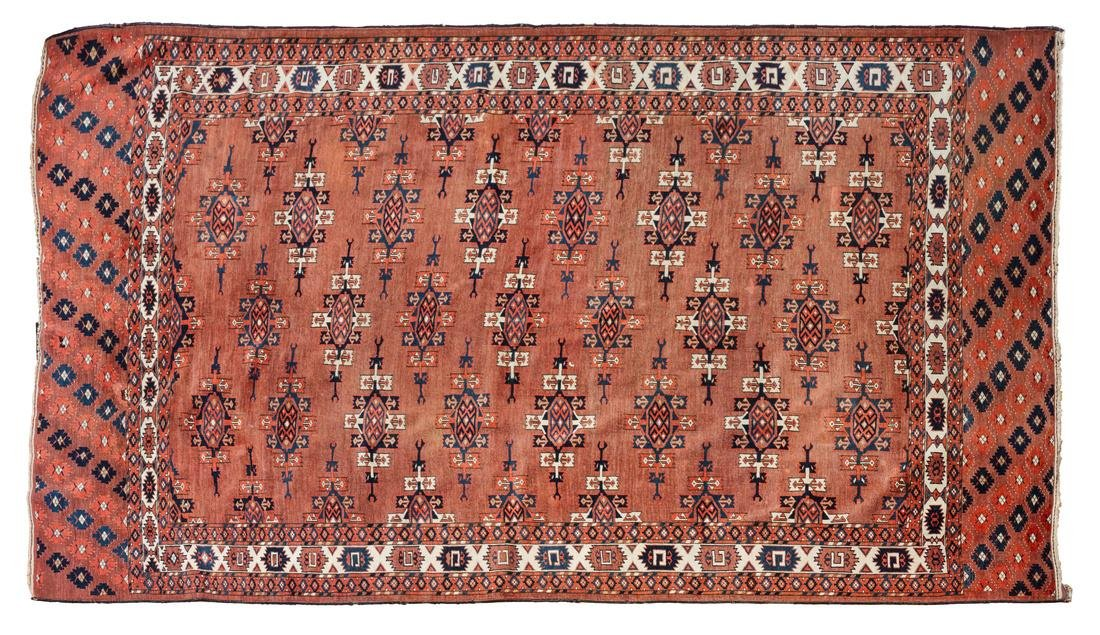 Yomut Turkmen Rug 72 x 113 1/2 inches