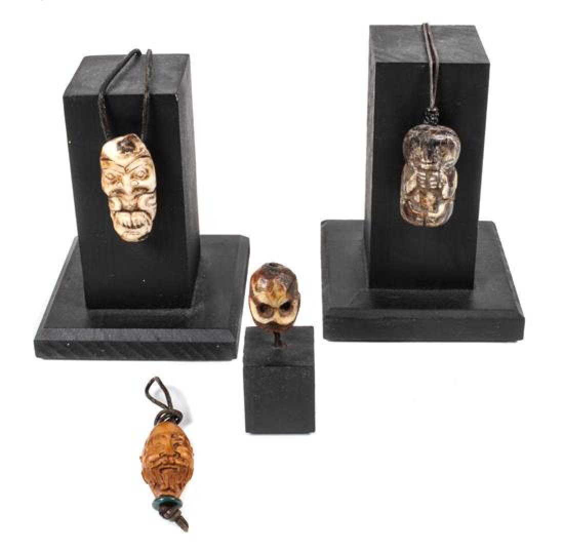 Four Miniature Decorative Objects Height of largest 1