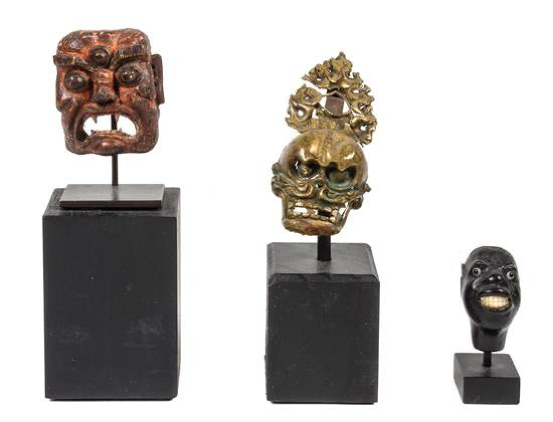 Group of Miniature Masks Height of tallest (with stand)