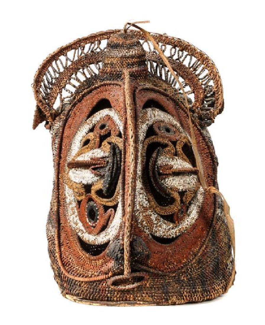 Papua New Guinea Rattan Yam Ceremony Mask Height 17 1/2