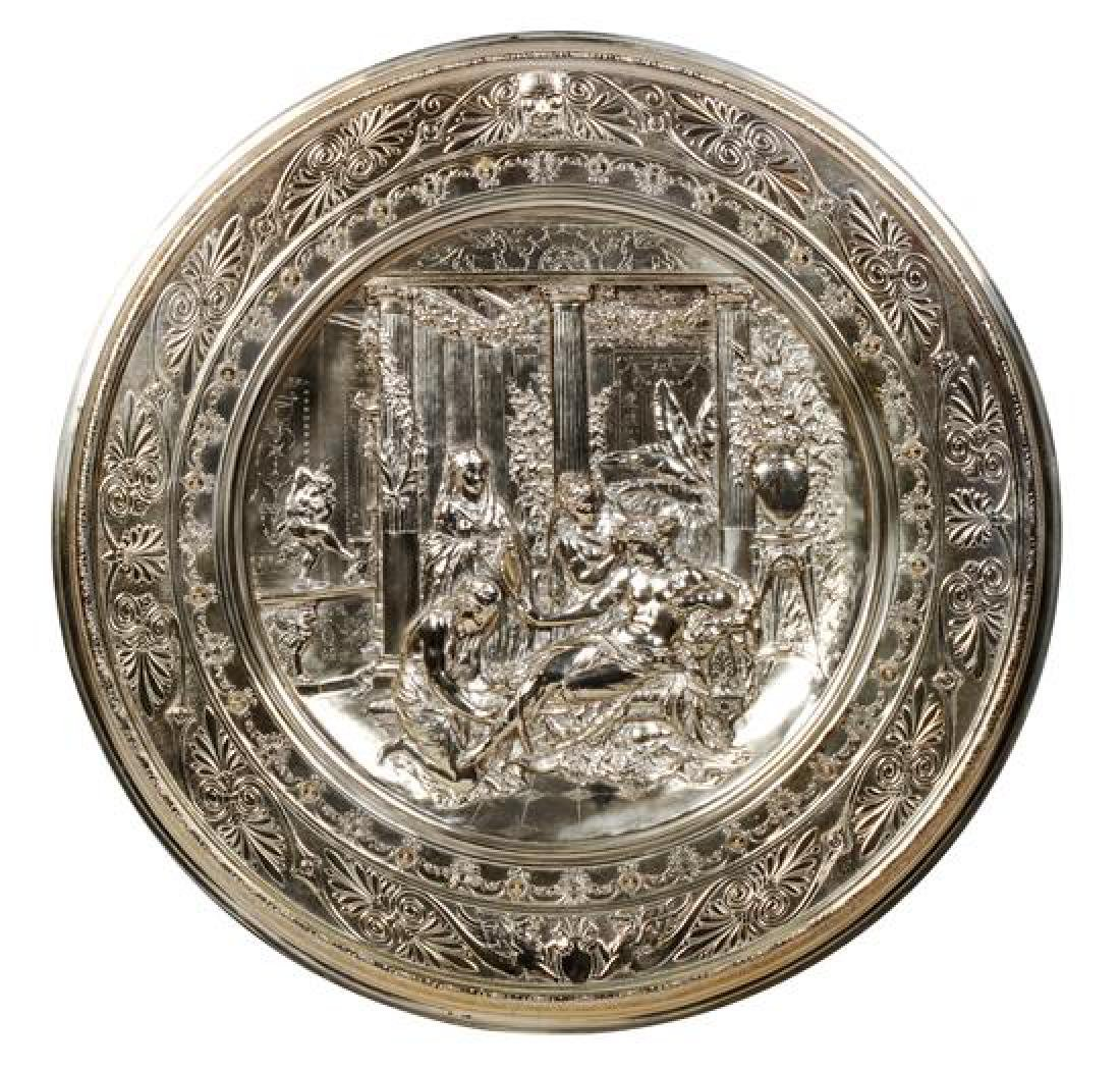 English Silver-Plate Charger Diameter 20 1/8 inches