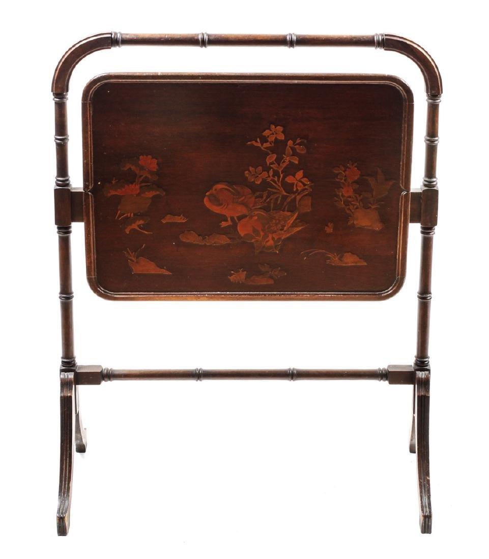 Mahogany Folding Tea Table Height 37 x width 29 inches
