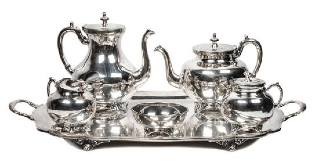 Mexican Silver Tea and Coffee Service Height of tallest
