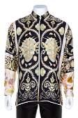 A Gianni Versace Silk Print Shirt Size 52