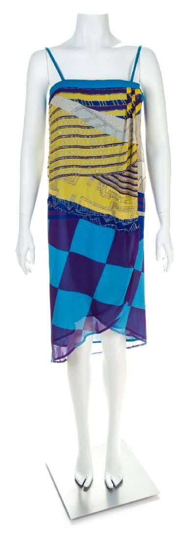 A Gianni Versace Silk Sleeveless Dress, Size 40.