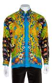 A Gianni Versace Silk Print Shirt Size 50