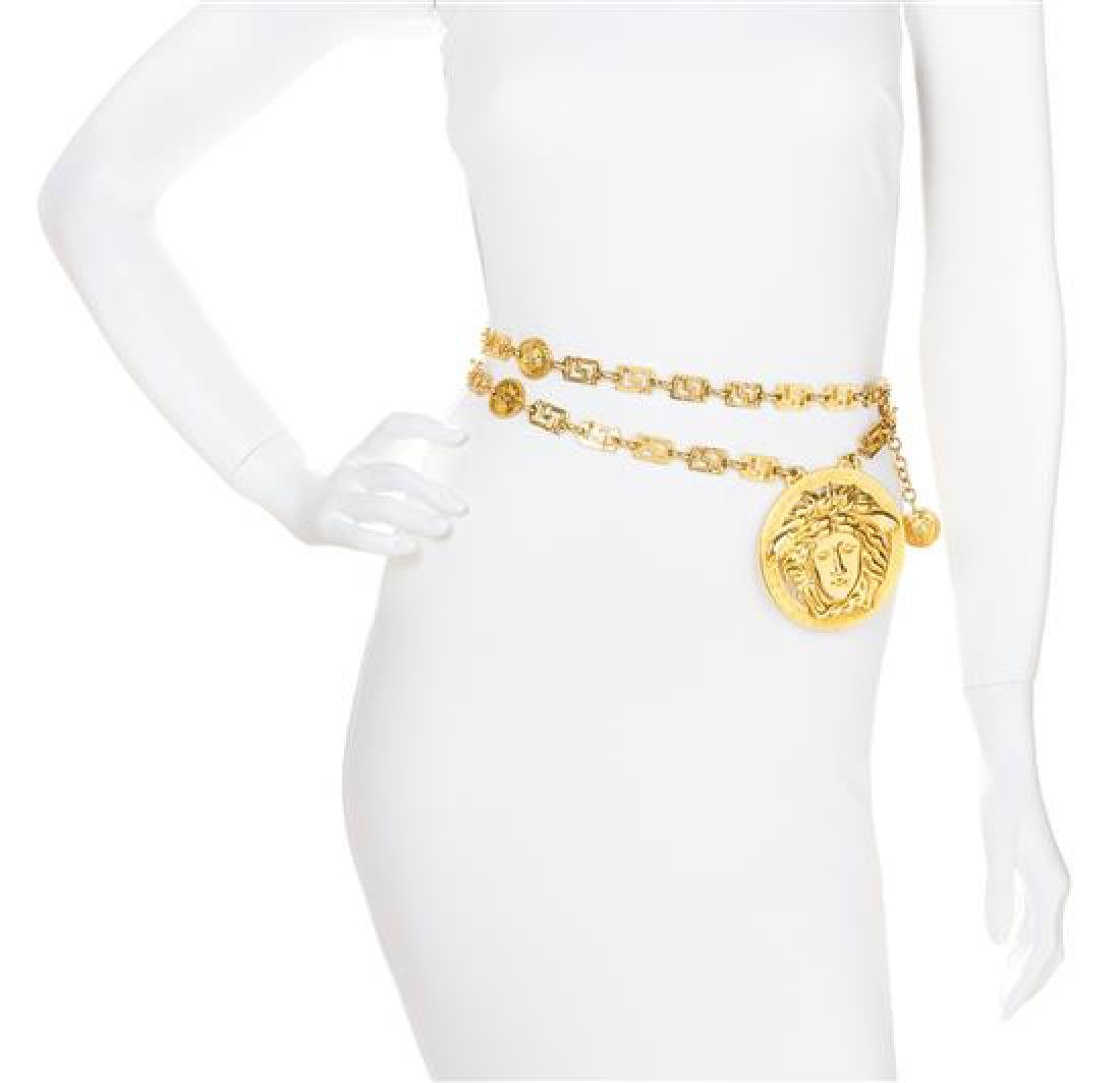 A Gianni Versace Runway Medusa Pendant and Greco Link
