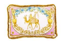 A Gianni Versace Silk Pillow Cover 25 x 18