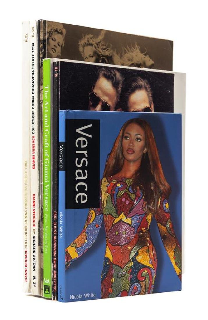 A Collection of Gianni Versace Books and Catalogues,