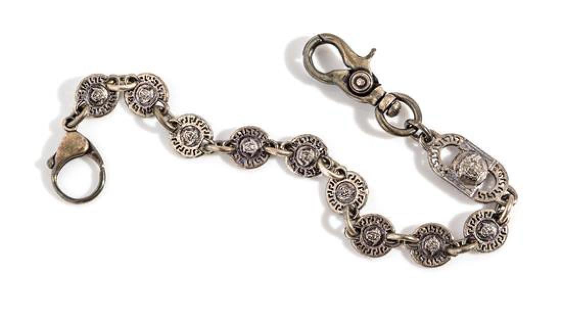 A Gianni Versace Medusa Medallion Pocket Chain, Length: