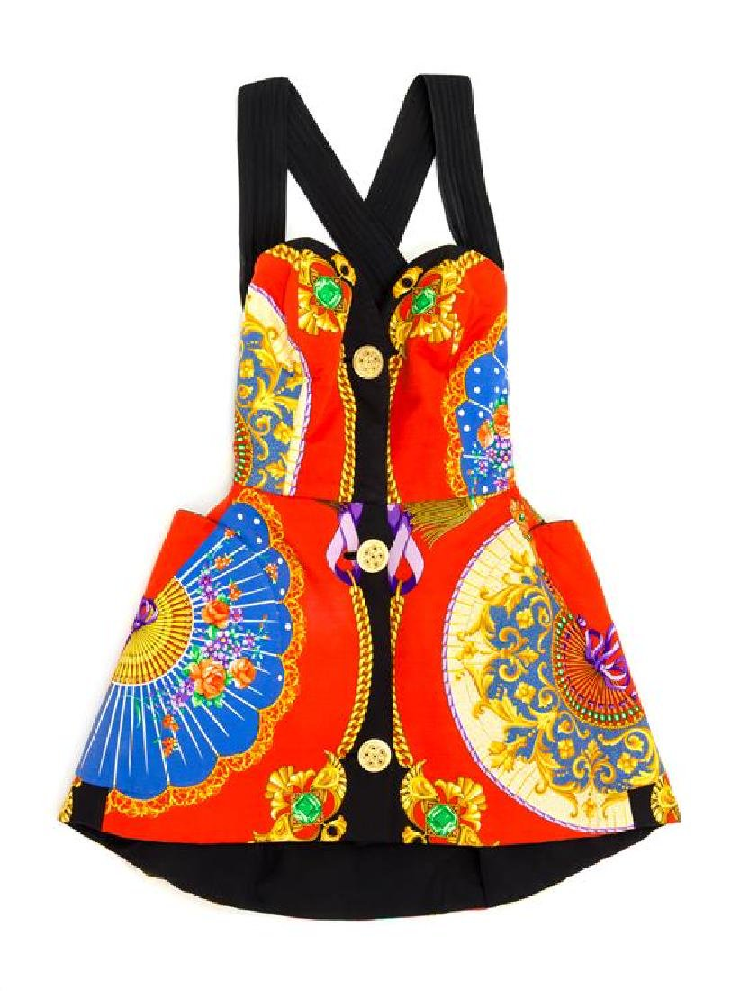 A Gianni Versace Silk Atelier Print Mini Dress, No