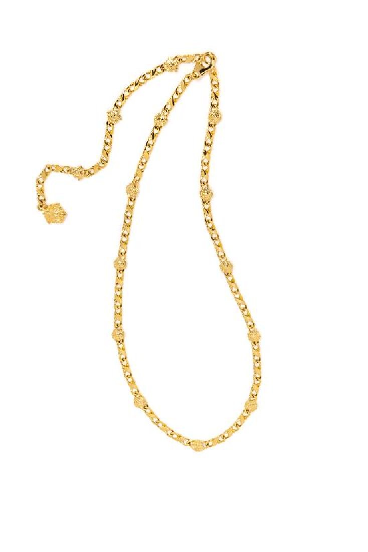 "A Gianni Versace Medusa Link Necklace, Length: 26.5"";"