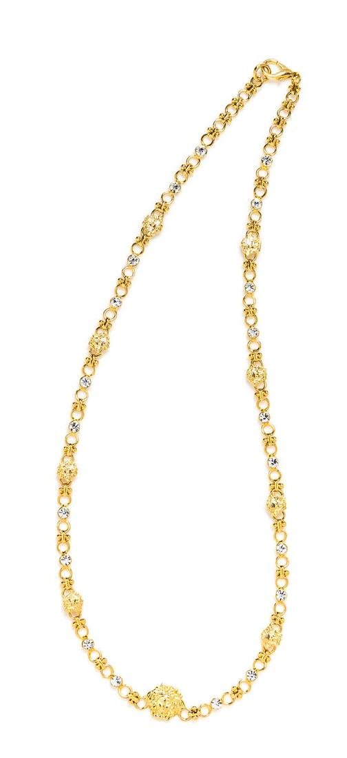 A Gianni Versace Medusa and Rhinestone Link Necklace,