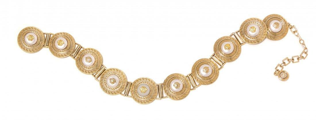 A Gianni Versace Medallion Link Belt,