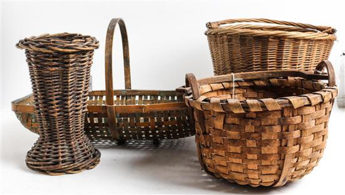 Three Woven Baskets