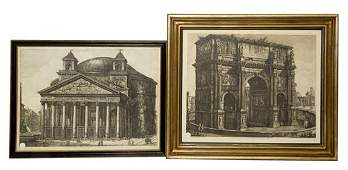 A Group of Two Italian Engravings