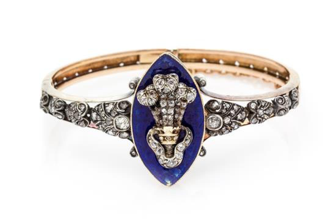 * A Victorian Silver Topped Yellow Gold, Diamond and