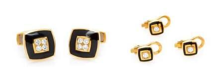 * An 18 Karat Yellow Gold, Diamond and Enamel Dress
