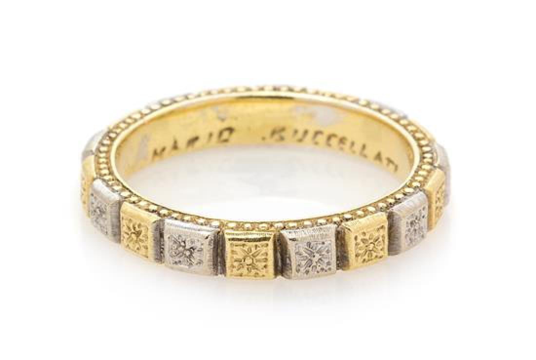A Bicolor Gold Band Ring, Mario Buccellati, 4.50 dwts.