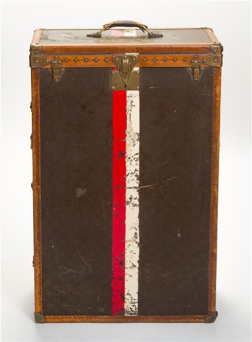 "A Louis Vuitton Monogram Leather Wardrobe Trunk, 33.5""H - 2"