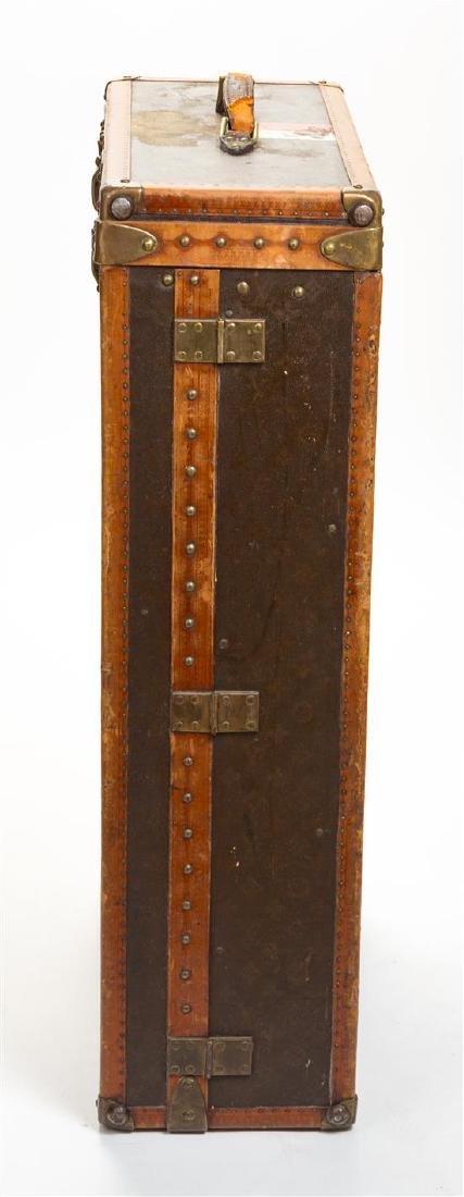 "A Louis Vuitton Monogram Leather Wardrobe Trunk, 33.5""H - 3"