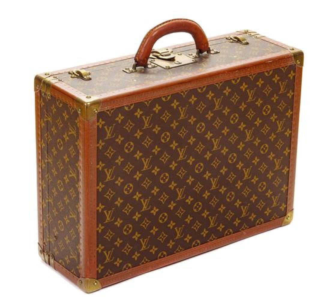 "A Louis Vuitton Monogram Canvas Bisten Suitcase, 14""H x"