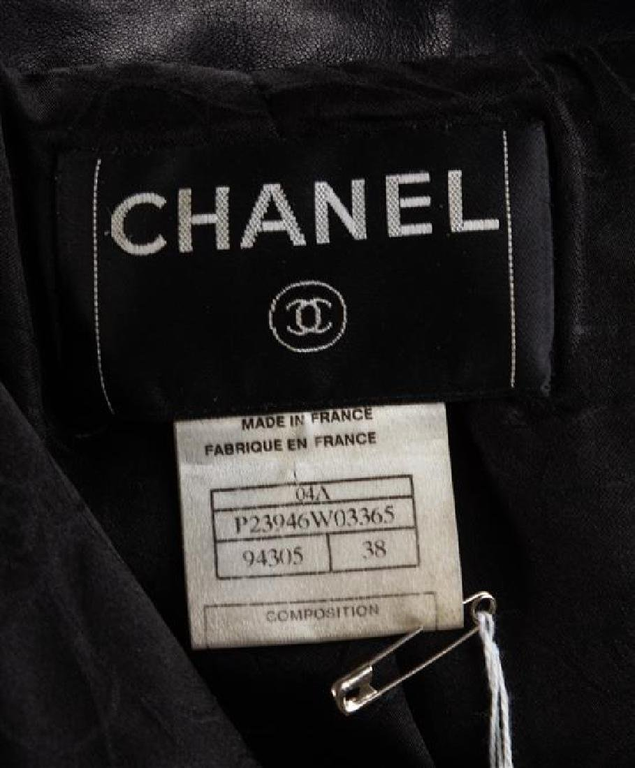 A Chanel Black Lambskin Leather Jacket, Size 38. - 3