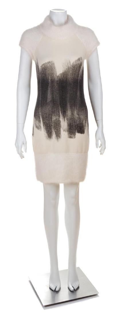 A Chanel Cream and Grey Cashmere Brushstroke Dress,