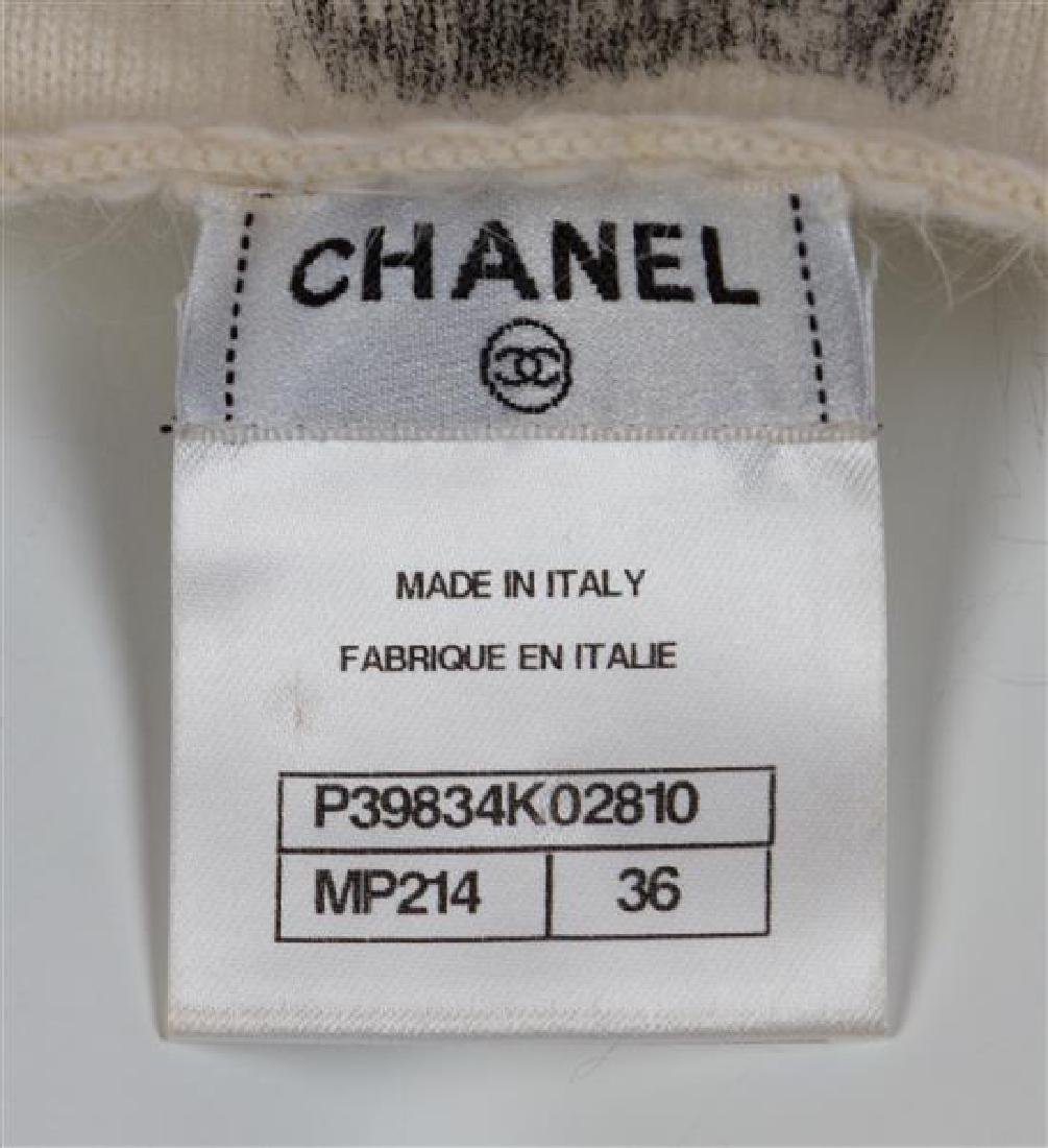 A Chanel Cream and Grey Cashmere Brushstroke Dress, - 3