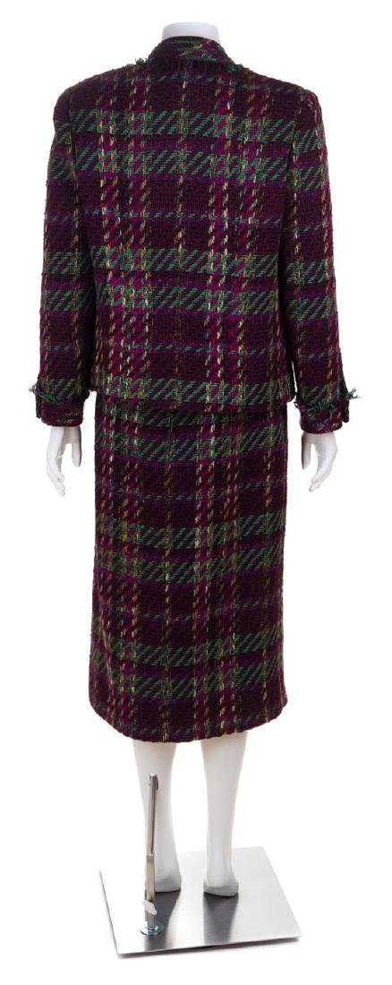 * A Chanel Multicolor Wool Textured Jacket and Skirt - 2