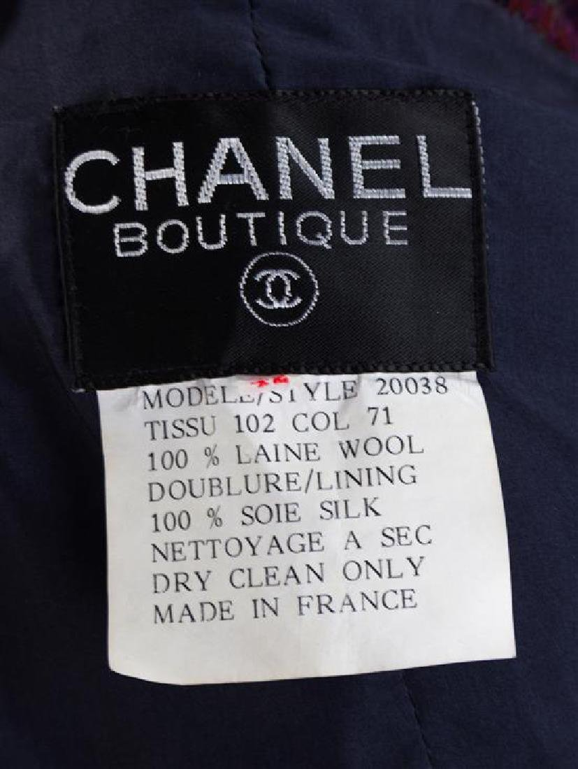 * A Chanel Multicolor Wool Textured Jacket and Skirt - 3
