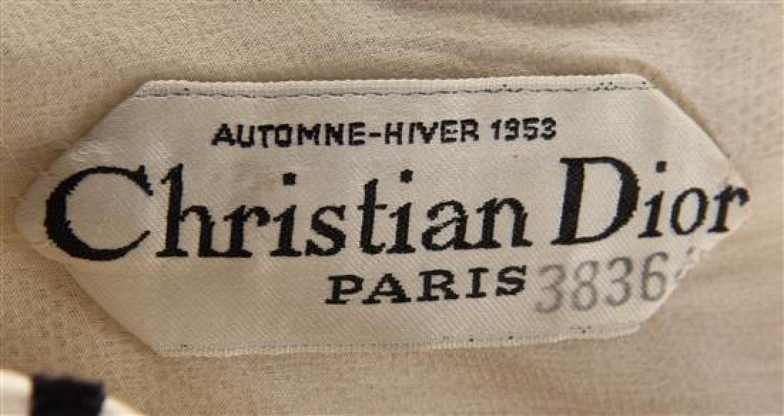 A Christian Dior Black and White Silk Strapless - 2