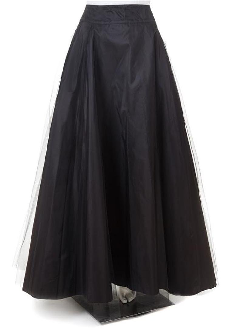 An Escada Black Silk Full Evening Skirt, Size 38.