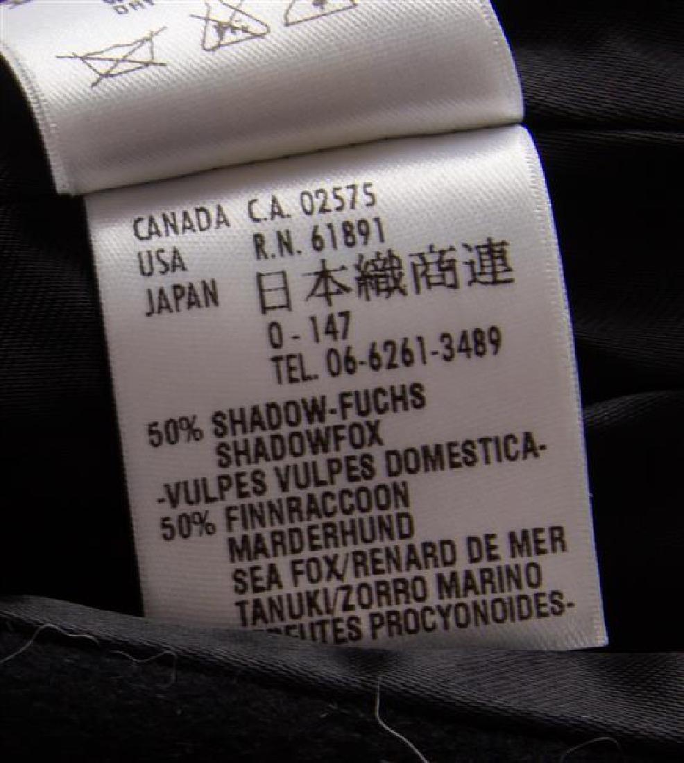 An Escada Black Wool Fox Trim Coat, Size 36. - 3