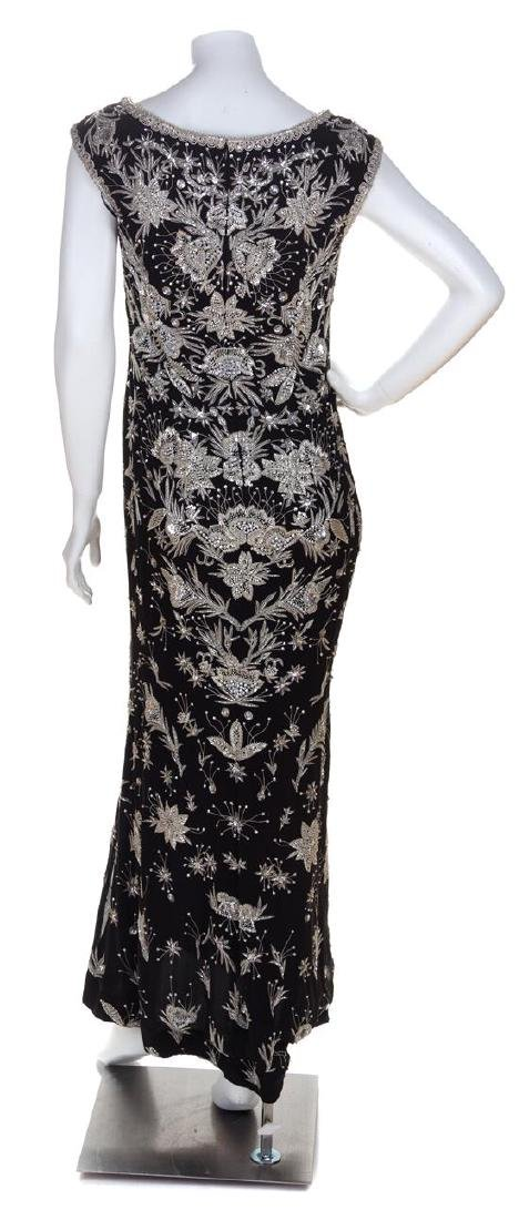 An Escada Black Silk Heavily Beaded and Embroidered - 2