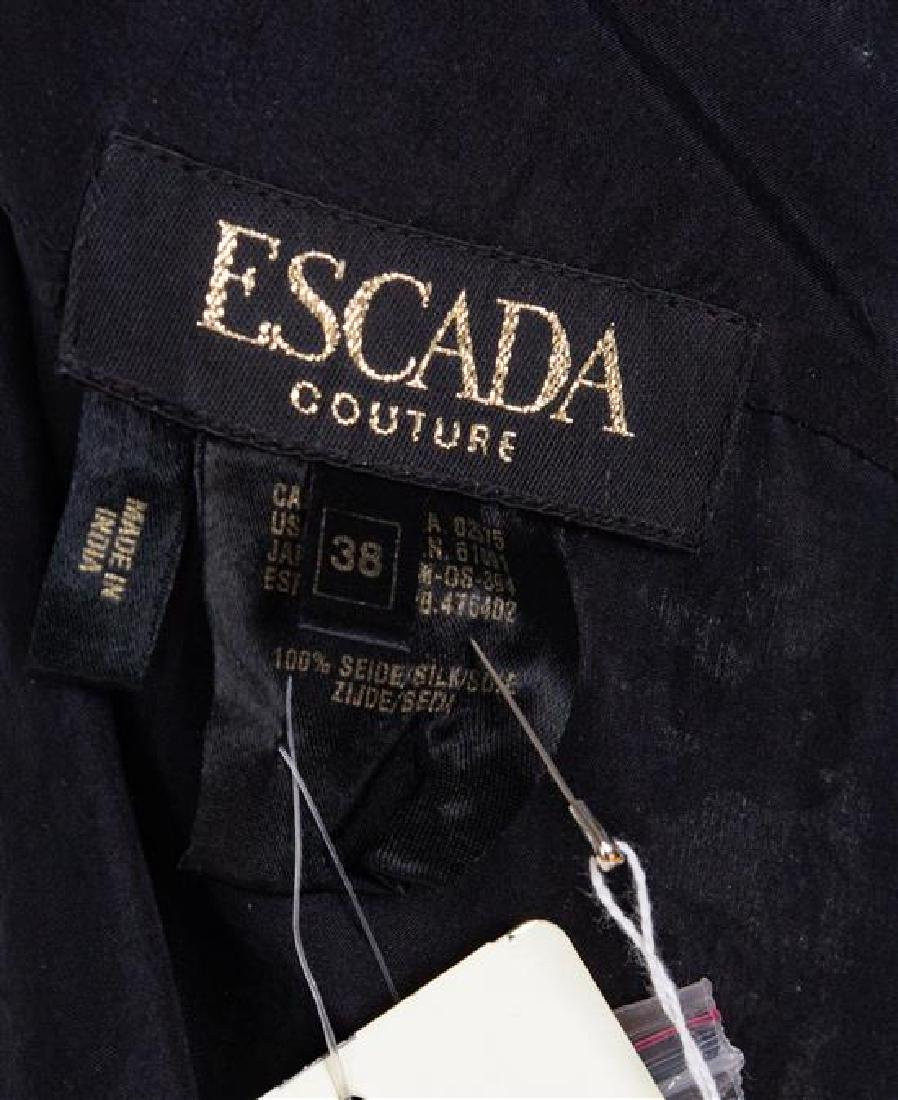 An Escada Black Silk Heavily Beaded and Embroidered - 3