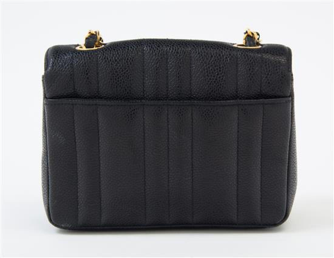 "A Chanel Black Caviar Quilted Small Flap Bag, 7"" x 5"" x - 3"