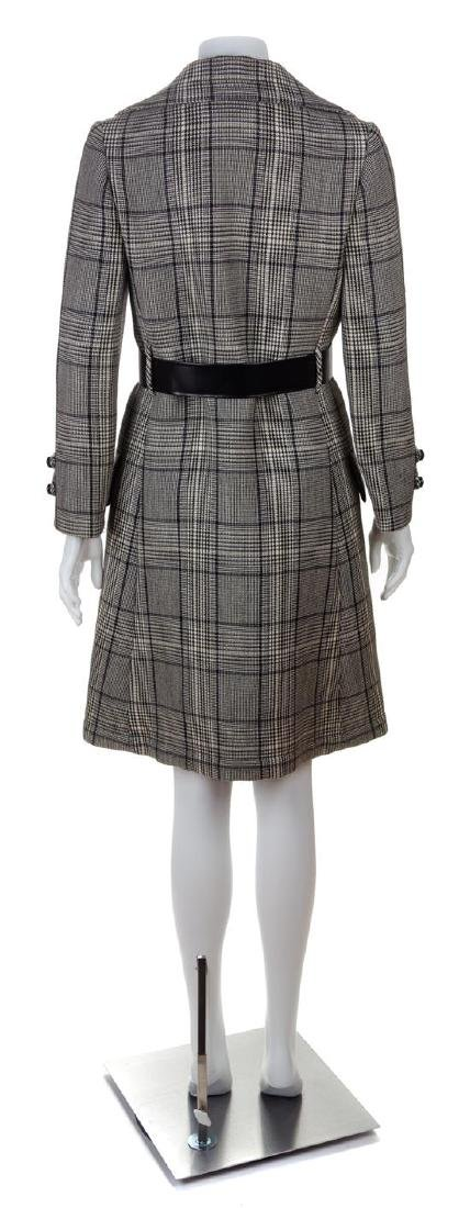 A Jeanne Lanvin Black and White Wool Plaid Double - 2