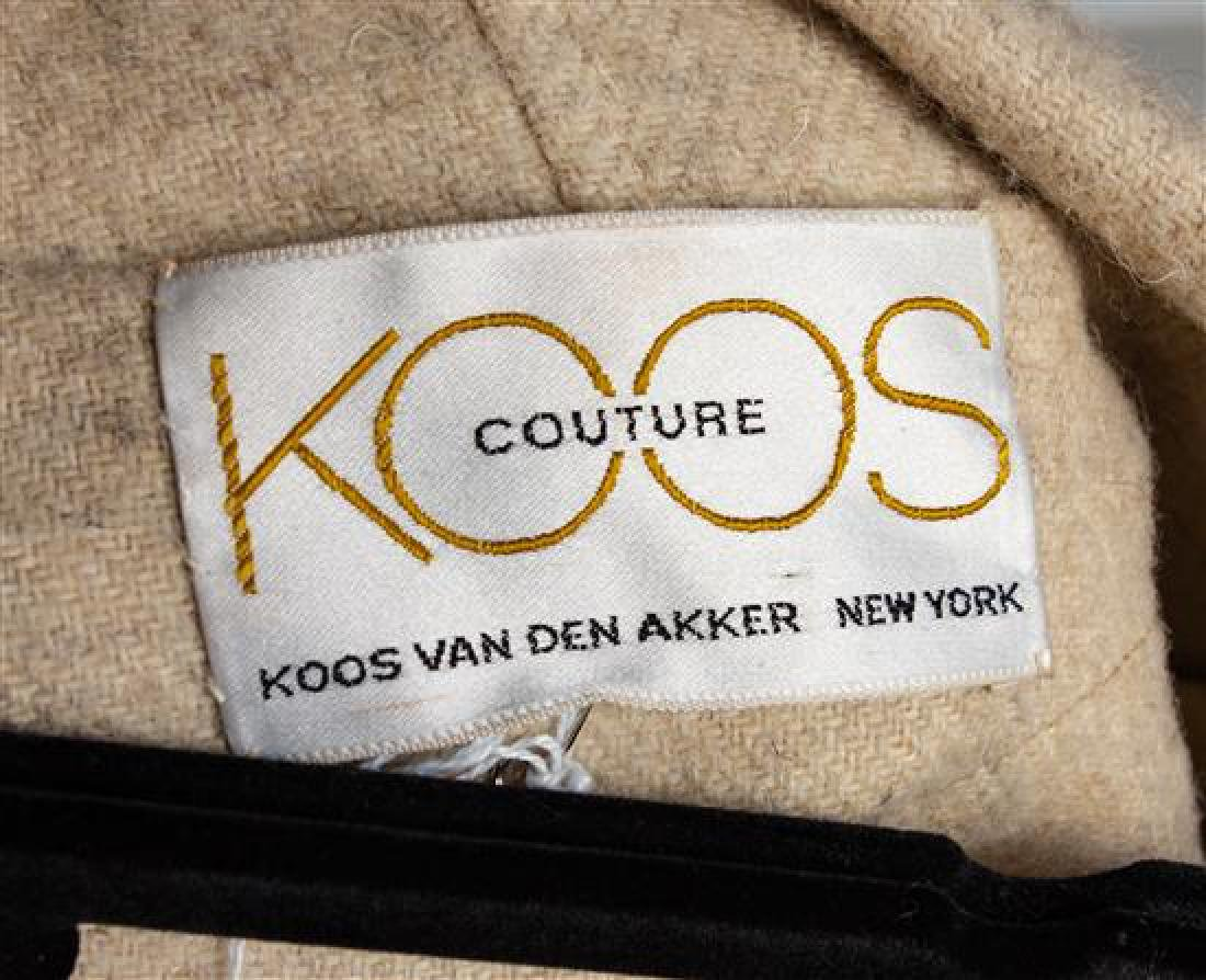 * A Koos Cream Wool Poncho, No size. - 3