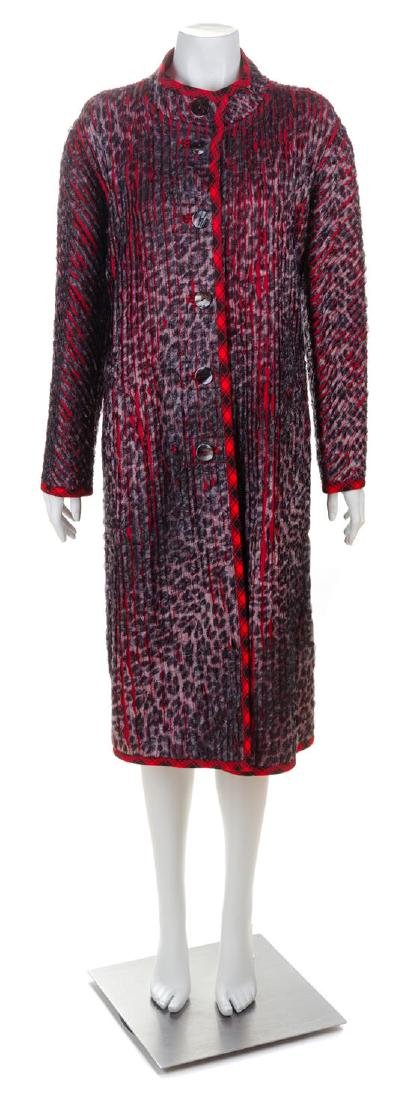 * A Koos Red Wool Reversible Coat, No size.