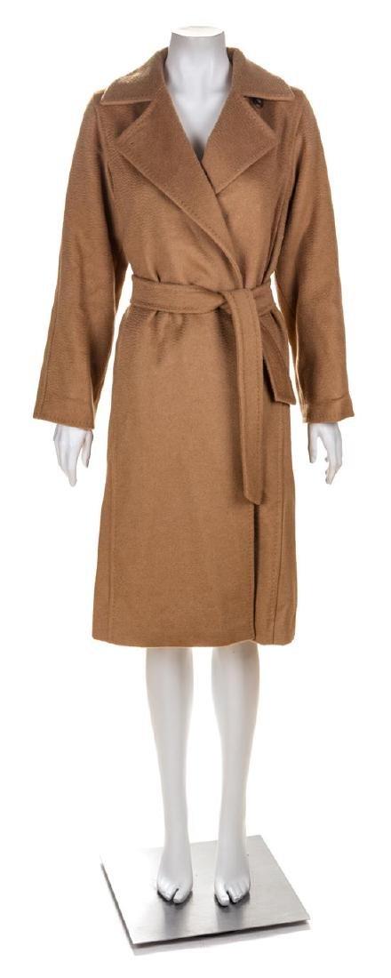A Max Mara Camel Hair Coat, Size 0.