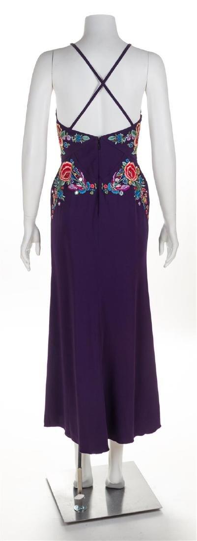 A Roberto Cavalli Purple Floral Embellished Halter - 2