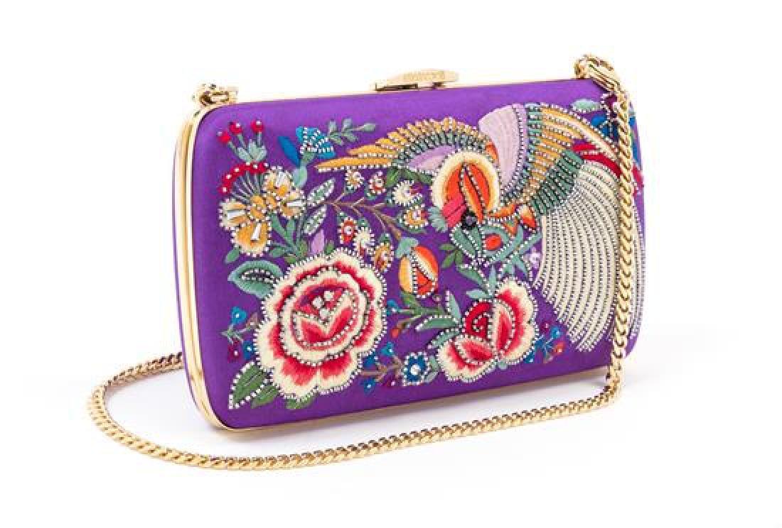 A Roberto Cavalli Purple Floral Embellished Halter - 4